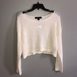 forever 21 cream lightweight sweater top NWT